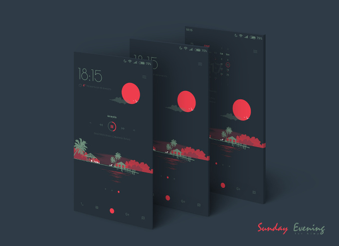 Sunday Evening preset for KLWP