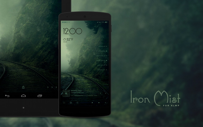 Iron Mist Theme for KLWP Live Wallpaper Maker