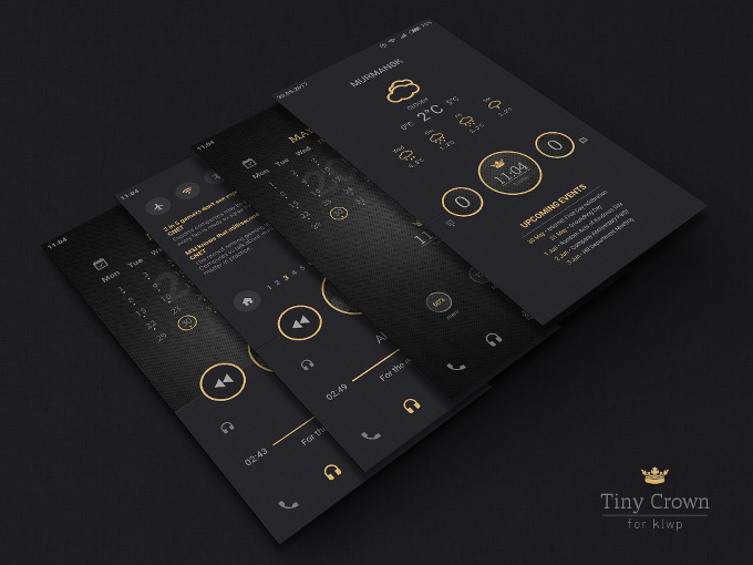 Tiny Crown Theme for KLWP Live Wallpaper Maker
