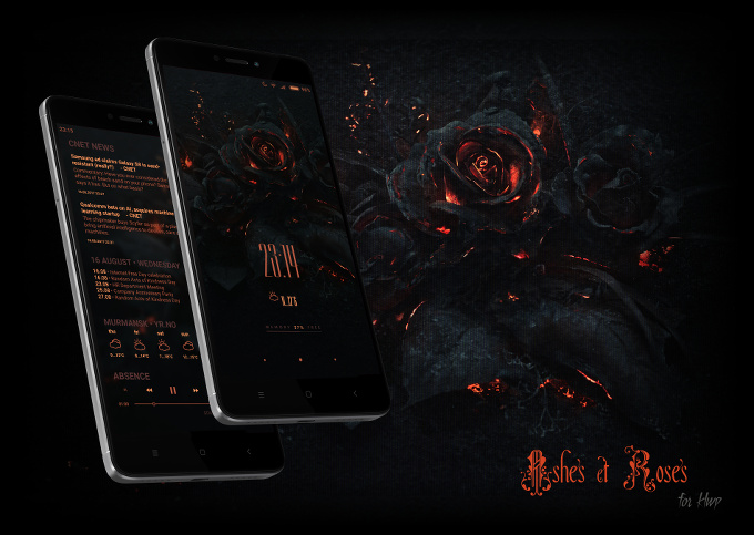 Ashes & Roses preset for KLWP
