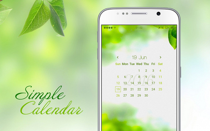 Simple lightweight calendar Komponent for KLWP Live Wallpaper Maker